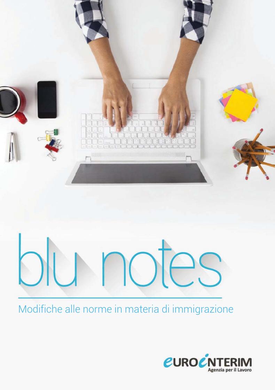 Blu Notes: Modifiche alle norme in materia di immigrazione