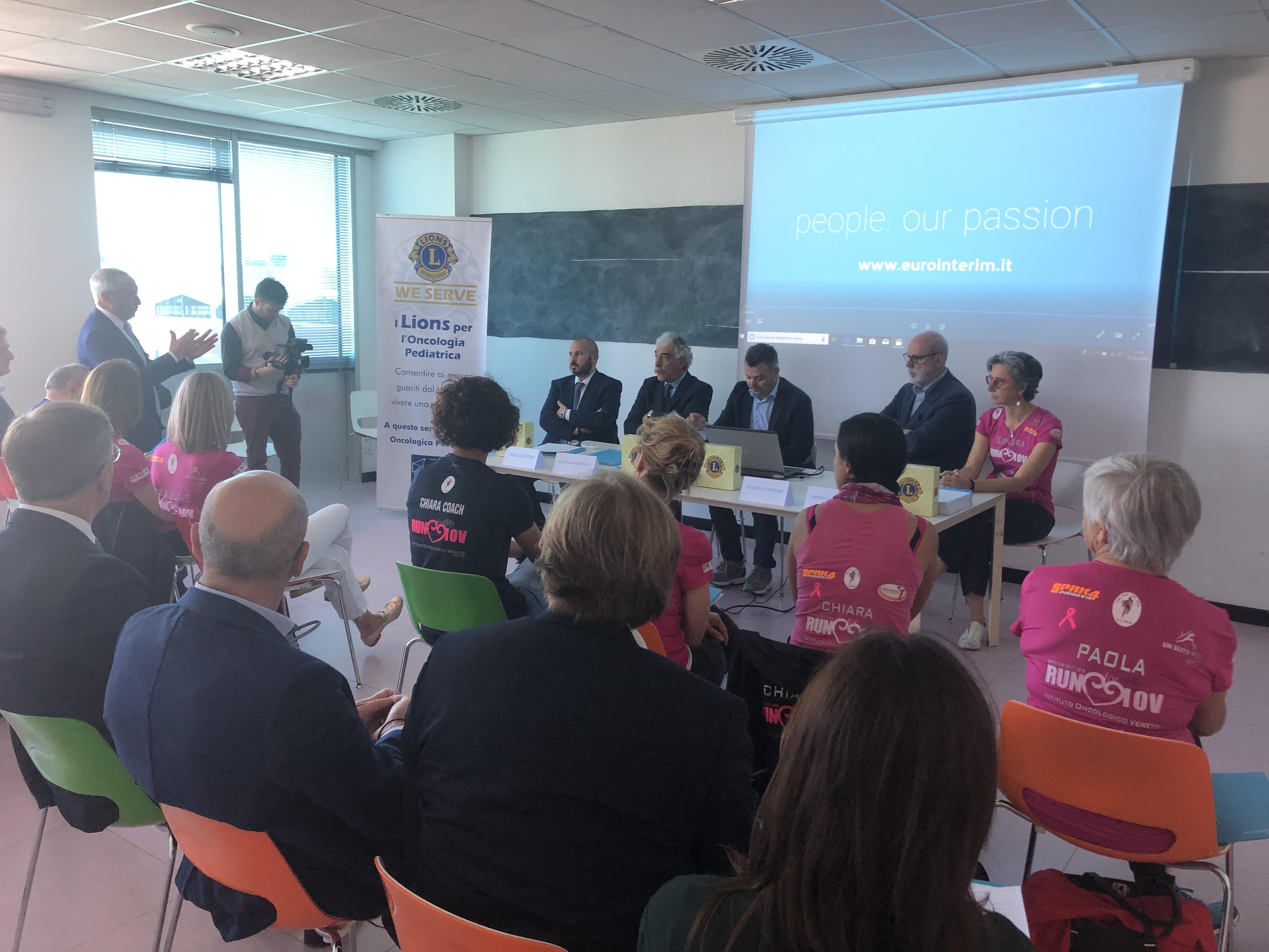 Eurointerim a sostegno della ricerca contro il tumore: le donazioni a IOV e RYLA ONLUS
